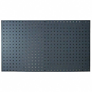 "Steel Pegboard Panel with 400 lb. Load Capacity, 42-1/2""H x 24""W, Gray, 2 PK"