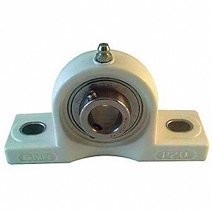 "Pillow Block Bearing,Ball,1-1/2"" Bore"