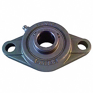 "Flange Bearing,2-Bolt,Ball,1-1/4"" Bore"