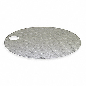 Drum Top Absorb Pad, Universal, Gray, PK25