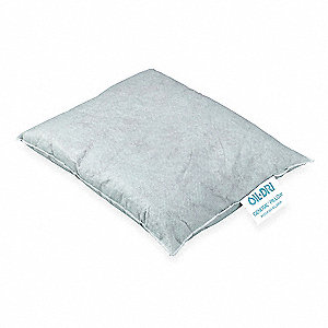 "Cellulose Absorbent Pillow, Fluids Absorbed: Universal / Maintenance, 16"" Length, 21"" Width"