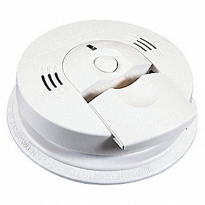 "5-3/4"" Carbon Monoxide and Smoke Alarm with 85dB @ 10 ft. Audible Alert; (3) AA Batteries"