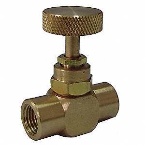 "Needle Valve&#x3b; Inlet Port: 1/4"" NPT, Outlet Port: 1/4"" NPT"