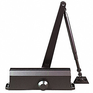Hydraulic, Heavy Duty, Non-Handed/Reversible, Dark Bronze Door Closer