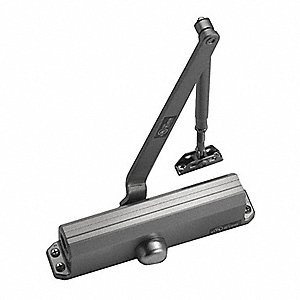 Hydraulic, Standard Duty, Non-Handed/Reversible, Dark Aluminum Door Closer