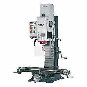 "Mill/Drill Machine, 3 Motor HP, 17"" Swing, 80 to 1100/160 to 1750/320 to 3100 RPM"