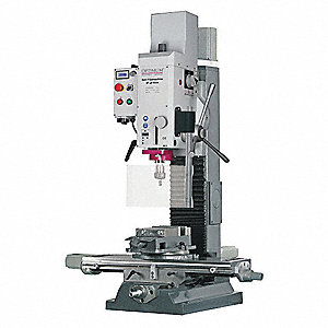 "Gear Head Mill/Drill, 3 Motor HP, 20"" Swing, 1750 RPM"