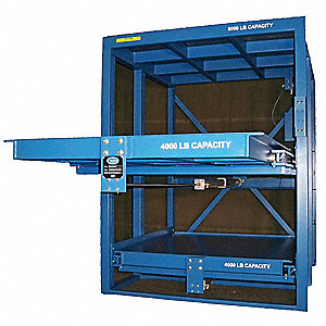 "53"" x 48"" x 80"" Assembled Steel High Capacity Roll Out Shelving, Blue"