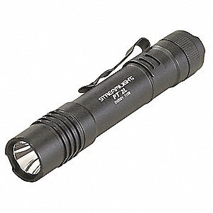 Tactical LED Tactical Handheld Flashlight, Aluminum, Maximum Lumens Output: 160, Black