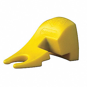 "Door Wedge, Thermo Plastic Elastomer and Magnet, Yellow, 4"" Length, 2-1/4"" Height, 2-1/2"" Width"
