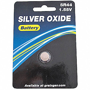 Silver Oxide Button Cell Battery, Voltage 1.5, Battery Size 76, 1 EA