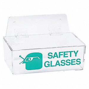 "9"" x 6"" x 3"" Acrylic Protective Eyewear Dispenser With Lid, Clear&#x3b; Holds Up to (6) Pairs"