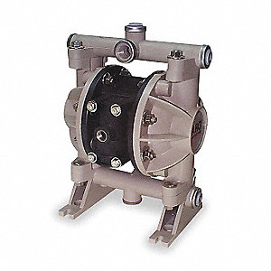 Polypropylene Urethane Multiport Double Diaphragm Pump, 13 gpm, 100 psi