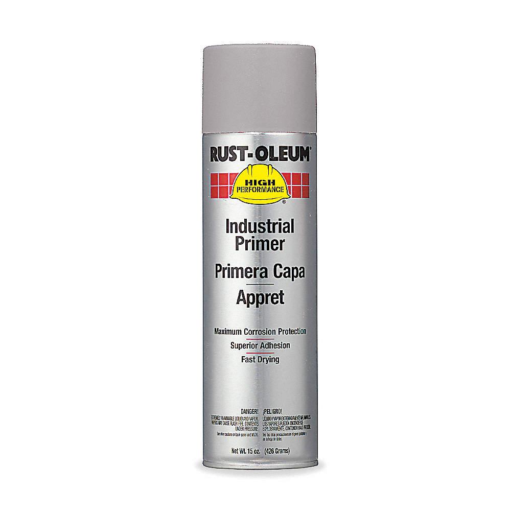 Solvent-Base Rust Preventative Spray Primer, Flat Gray, 15 oz