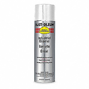 High Performance Rust Preventative Spray Paint in Flat White for Metal, Steel, 15 oz.