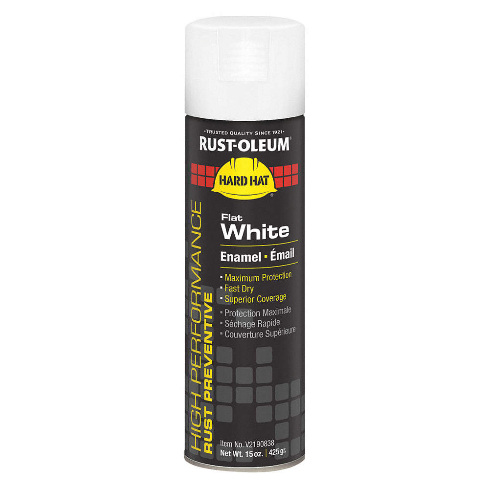 High Performance Rust Preventative Spray Paint In Flat White For Metal Steel 15 Oz