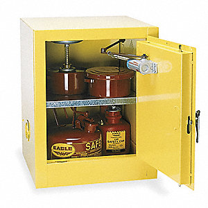Flammable Safety Cabinet,4 Gal.,Yellow