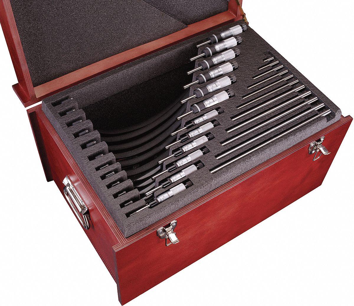 AB Tools-Toolzone Micrometer 0-25mm External Engineers Micro Analogue Measure Gauge TE244