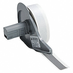 "Gray Vinyl Film Label Tape Cartridge, Indoor/Outdoor Label Type, 50 ft. Length, 1/2"" Width"