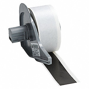 "Black Vinyl Film Label Tape Cartridge, Indoor/Outdoor Label Type, 50 ft. Length, 1"" Width"