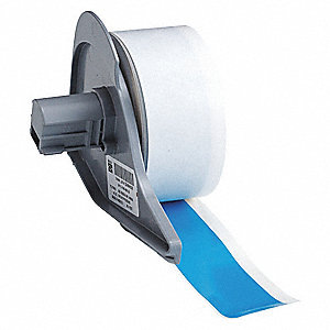 "Light Blue Vinyl Film Label Tape Cartridge, Indoor/Outdoor Label Type, 50 ft. Length, 1"" Width"