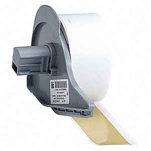 "Tan Vinyl Film Label Tape Cartridge, Indoor/Outdoor Label Type, 50 ft. Length, 1"" Width"