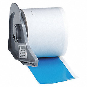 "Light Blue Vinyl Film Label Tape Cartridge, Indoor/Outdoor Label Type, 50 ft. Length, 2"" Width"