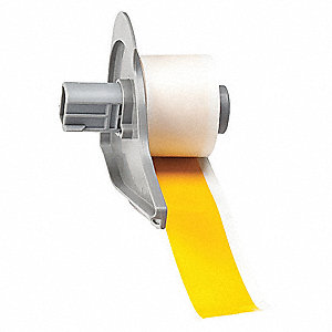 "Indoor Vinyl Film Label Tape Cartridge, Yellow, 1""W x 50 ft."