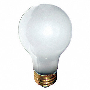 60 Watts Incandescent Lamp, A19, Medium Screw (E26), 575 Lumens, 2800K Bulb Color Temp., 1 EA