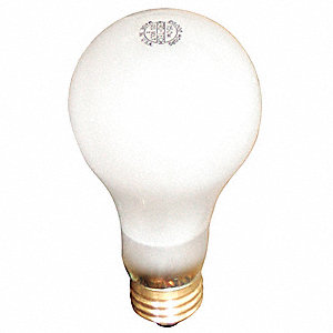 150 Watts Incandescent Lamp, A21, Medium Screw (E26), 1620 Lumens, 2800K Bulb Color Temp., 1 EA