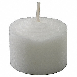 Wax Votive Candle, White, Unscented, 8 hr., 432 PK