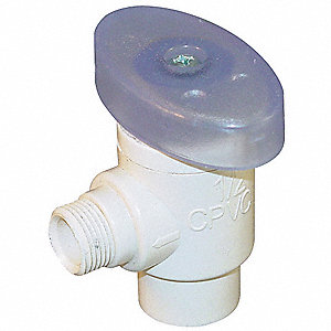 PVC Quarter-Turn Supply Stop, MNPT Inlet Type, 100 psi