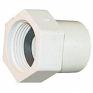 "CPVC Female Adapter, CTS, 1"" Pipe Size, FIP x CTS Hub Connection Type"