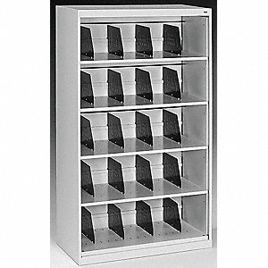Cabinet,36 x 63-1/2 x 17 In,Light Gray