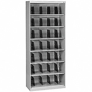 "36"" x 17"" x 87"" 0-Drawer Open Style Fixed Shelf Lateral File Series File Cabinet, Light Gray"