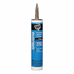 Bronze Rubber Sealant, Silicone, 9.8 oz. Cartridge