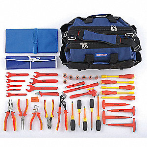 "Insulated Tool Set, Number of Pieces: 40, 3/8"" Drive Size"