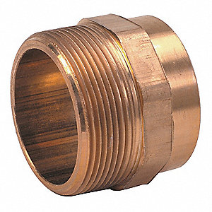 Copper to Pipe Adapter,Wrot Copper,2""