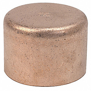 "Wrot Copper Cap, C x C Connection Type, 1/4"" Tube Size"