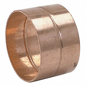 DWV COUPLING,1-1/2 IN,COPPER,OD 1-5