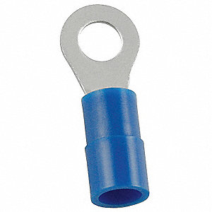 Ring Term,Nylon,#8,0.90 in.,PK100
