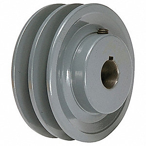"V-Belt Pulley,1-1/8""Fixed,4.75""OD,Iron"