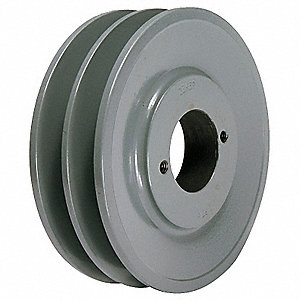 "V-Belt Pulley,Detachable,2Groove,5.45""OD"