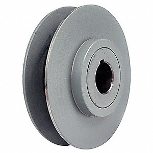 "1-3/8"" Fixed Bore Variable Pitch V-Belt Pulley, For V-Belt Section: 4L, 5L, A, AX, B, BX"