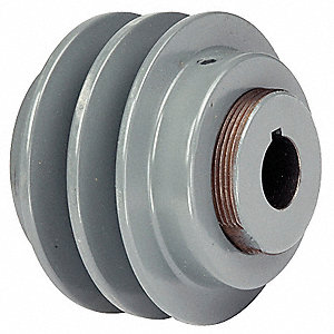 "7/8"" Fixed Bore Variable Pitch V-Belt Pulley, For V-Belt Section: 3L, 4L, 5L, A, AX, B, BX"