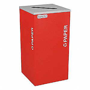Recycling Container,Red,24 gal.