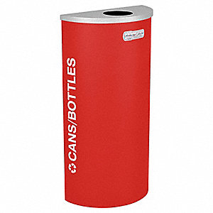 Recycling Container,Red,8 gal.