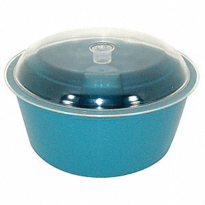 Vibratory Tumbler Bowl and Lid, 8In Dia.
