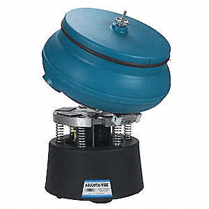 "Vibratory Tumbler, With Drain and Tilting Plate, 0.35 cu.ft., 75 lb. Weight Capacity, 17"" Bowl Dia."