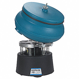 Vibratory Tumbler, With Drain, Tilting Plate and Discharge Port, 0.75 cu.ft., 75 lb. Weight Capacity